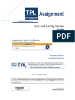 Syntax and Teaching Grammar - Assignment.pdf