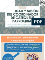 El Servicio Del Coordinador de Catequesis Parroquial.