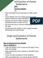 1.evolution of settlements