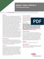 DuPont Teflon PTFE-8A-X Product Information