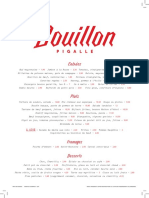 Menu Bouillon pigalle