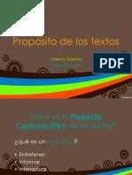 Propositos de Los Textos