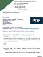 John Doe v Williams College Motion for Summary Judgment Exhibit 47