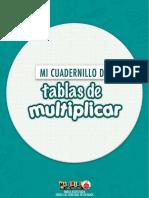 Tablas de Multiplicar CUADERNILLO