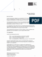 Letter From DET regarding Vexatious  & Complaint process  25 March 2008