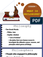 Lesson 1 What is Philosophy