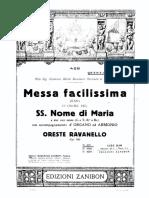 Ravanello, Oreste - Missa Facilissima (XXII)