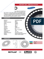 Ficha Técnica - High Bay LED DXPRO - 100W New Model Full