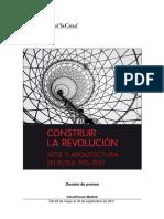 Nota de Prensa de La Exposicion i Construir La Revolucion i en Caixaforum Madrid