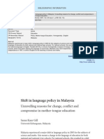 Shift in Language Policy in Malaysia_Unravelling Reasons for Change, Conflict and Compromise in Mother-Tongue Education.