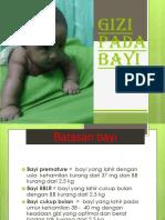 Gizi Pada Bayi