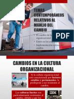 Temas Contemporáneos Relativos Al Manejo Del Cambio