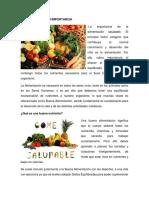 Alimentación y Su Importancia