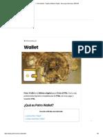 ▷ Petro Wallet - Registro Billetera Digital - Descargar Monedero【2018】