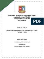 Kertas Kerja Orientasi Tahun 1 2018 New
