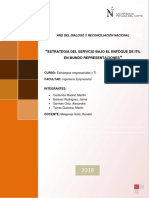 Estrategia Del Servicio Bajo El Enfoque de Itil en Mundo Representaciones