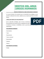 Documentos Del Area de Recursos Humanos