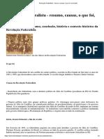 Revolução Federalista - Resumo Causas o Que Foi Conclusão