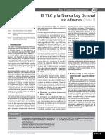 El TLC y La Nueva Ley General de Aduanas (Parte I)