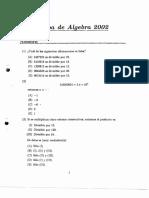 Algebra 2002