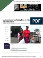 Migrante Hondureña Rechazando Comida Genera Polémica en México