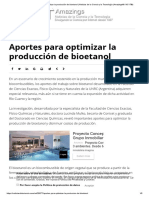 optimizacion de produccion de bioetanol