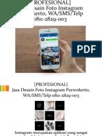 [PROFESIONAL] Jasa Desain Foto Instagram Purwokerto, WA/SMS/Telp 0811-2829-003