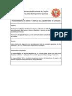 Normas de Orden y limpieza - Laboratorio de Catálisis.docx