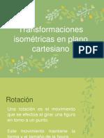 Transformaciones Isométricas en Plano Cartesiano