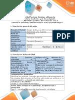 Guia de actividades y  rúbrica de evaluación Fase 3  Identificar métodos y herramientas de planeación estratégica