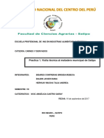 Informe de Visita Tecnica Del Camal