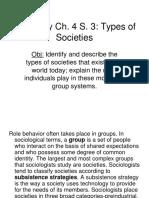 Sociology Ch. 4 S. 3