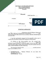 Judicial Affidavit of Psychiatrist