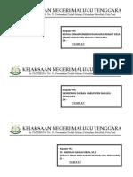 Cover Amplop Surat Panggilan