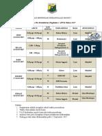 Jadual Pra PT3 2017