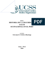 Historia de La Legislacion y Salud en El Trabajo