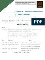 Programa III Encuentro Peruano de Cementerios Patrimoniales