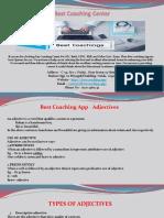 Best Coaching Center - Adjectives