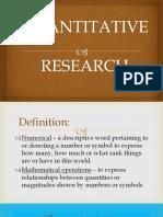 Lesson 2 - Quantitative Research