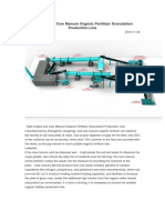 High- Output Cow Manure Organic Fertilizer Granulation Production Line