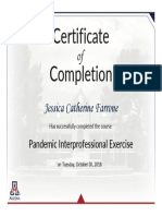 farrone-pandemic interprofessional exercise 2018