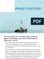 Philippines' Positions