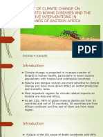 impact of climate change on mosquito borne illness and the effective intervention in highland of eastern africa shikha