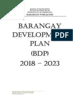Barangay Development Plan (2018 - 2023)