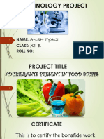 Class -12 adulteration project