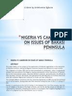 Nigeria vs Cameroon on Issues of Bakasi Peninsula-1-3