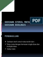 Sediaan Steril Mata Dan Sediaan Biologis
