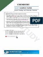2019 Jee Main Sample Paper Chemistry 04. Chemical Bonding