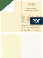 Gramática Latina (Resumen) - VOX
