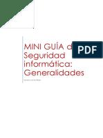 MINI GUIA - Seguridad Informática. Generalidades